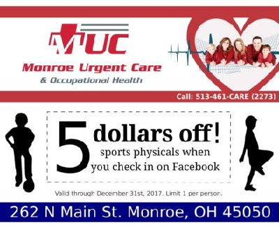 Sports Physical coupon